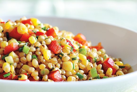 Wheat Berry, Corn and Red Pepper Salad | Recipes | Pinterest