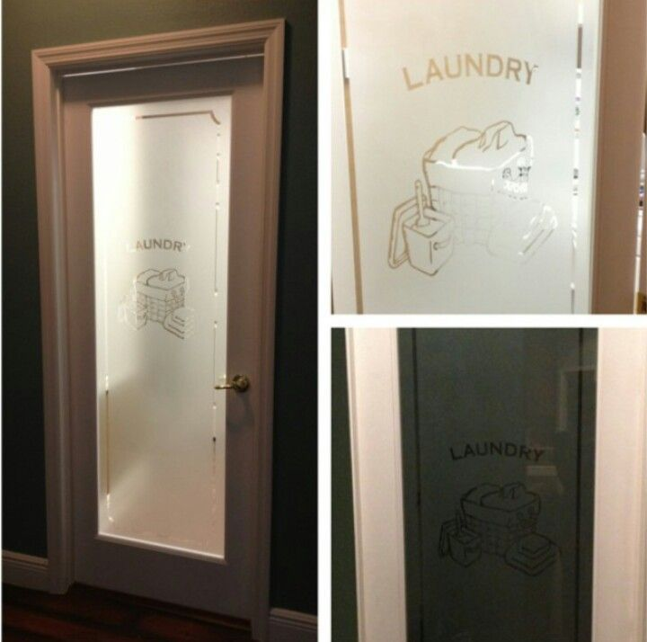 Laundry room frosted door from lowe 39 s for the home for Laundry external doors