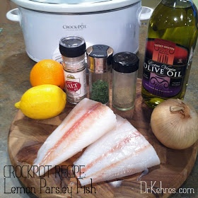 Dr. Kehres.com: health, nutrition, wellness blog: Recipe: Crockpot Lemon Parsley Fish [paleo recipe]