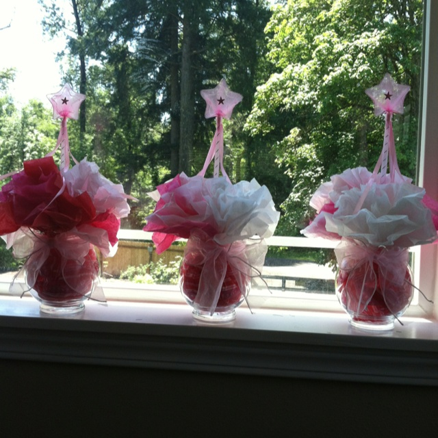 multi colored princess centerpieces princess baby shower pinterest