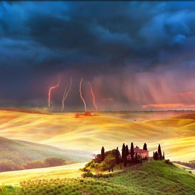 Lightning landscape | Landscape | Pinterest Landscape