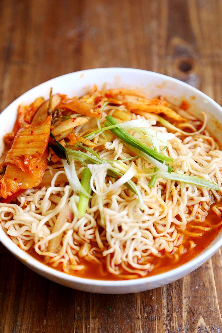 kimchi ramen vegetarian recipe Healthy Homemade   Pinterest Vegan Ramen Kimchi