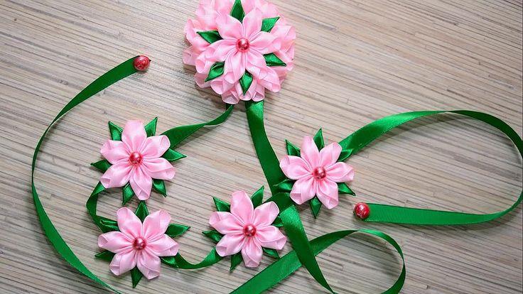Цветы из ленты канзаши своими руками мастер класс фото