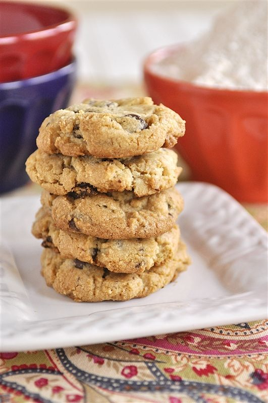Gluten Free Chocolate Chip Cookies | Healthier Baking | Pinterest