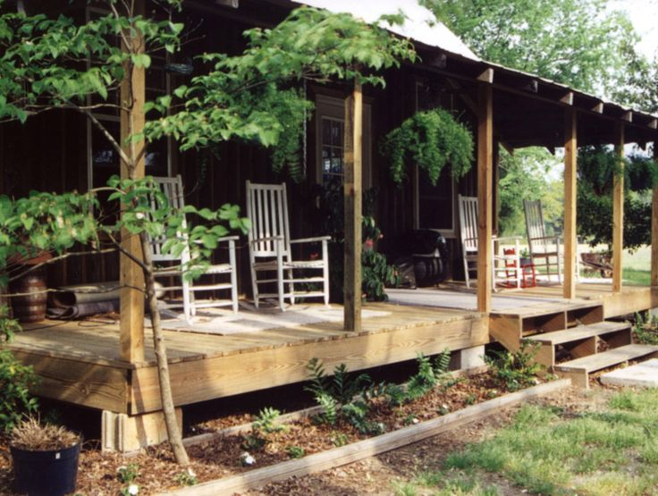 Log cabin porch sumter south carolina porches pinterest for Log cabin screened in porch