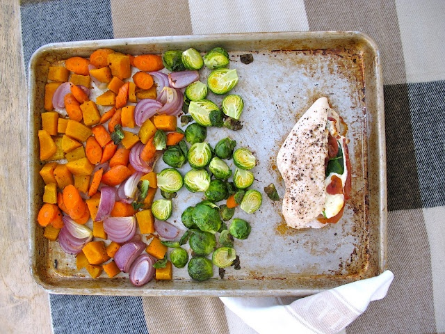 ... chicken with roasted fall vegetables - a one pan roasting dinner