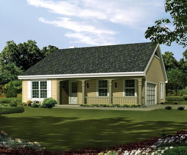 Country ranch traditional house plan 95814 for Traditional ranch homes