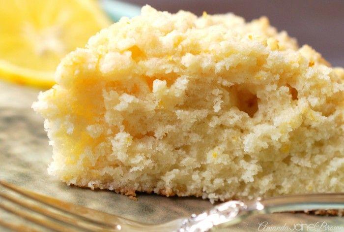 Meyer Lemon Coffee Cake Recipe | Amanda Jane Brown