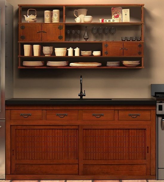 Japanese style kitchen and cabinetry abode pinterest for Japanese style kitchen