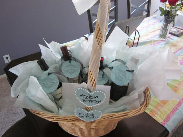Wedding Gift Year Of Firsts : Bridal Shower Gift: Basket of Firsts Gift Ideas Pinterest