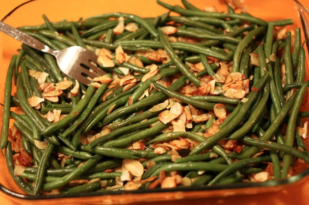 Green beans with almonds | Salads | Pinterest