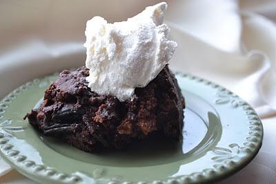 Peanut Butter Hot Fudge Cake in the Crockpot
