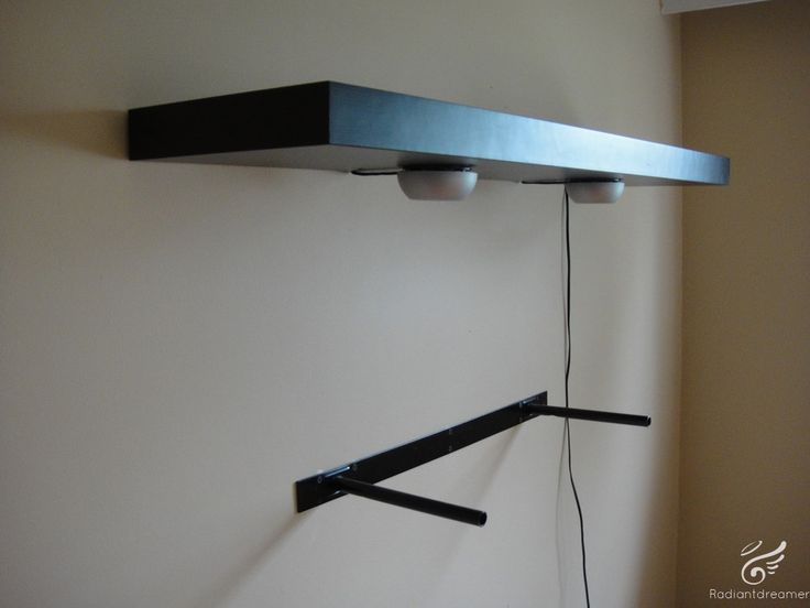 How to mount IKEA Lack Shelves : Home Living Room : Pinterest