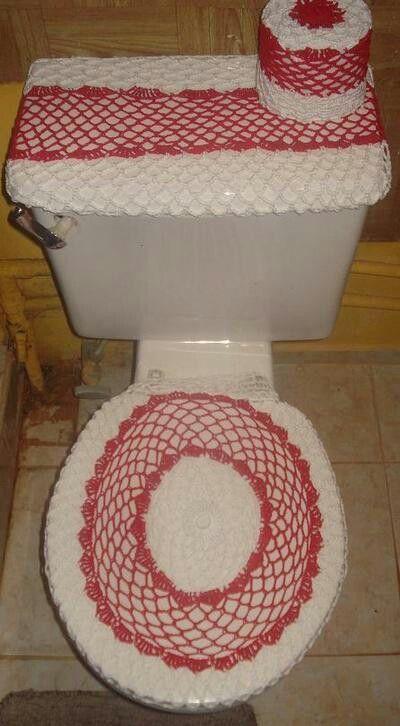 Juegos De Baño Tejidos:Juegos de baño en crochet