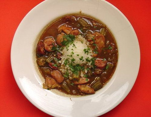 chicken and andouille gumbo recipe | soup's on | Pinterest