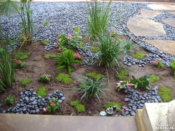 Beach Pebble Mosaic Garden Design house and garden
