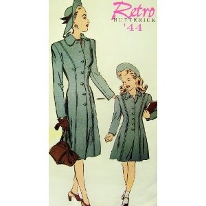 1944 Mother Daughter Fitted Coat