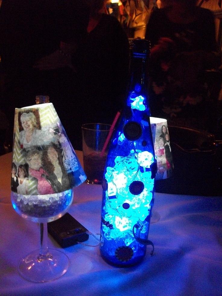 Pin by michelle krotowski on my stuff pinterest for Wine glass lamp centerpiece
