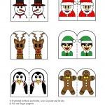 Finger Puppets color | Christmas | Pinterest