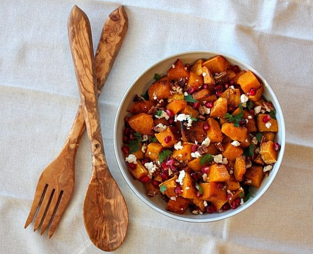 APPLE A DAY: Meatless Monday--Butternut Squash and Pomegranate Salad ...