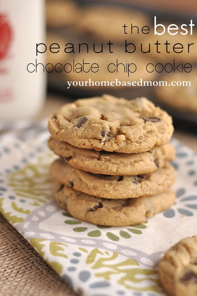 Peanut Butter Chocolate Chip Cookies @yourhomebasedmom.com #cookies ...