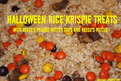 ... Rice Krispie Treats - with Reese's Pieces and Reese's Peanut Butter