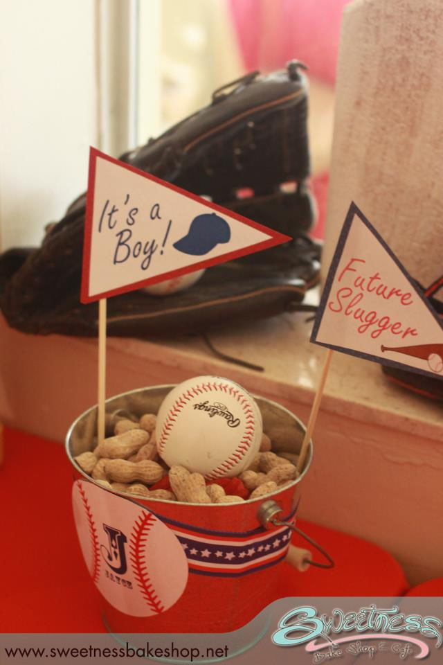 vintage baseball themed baby shower styled by sweetness bakeshop in