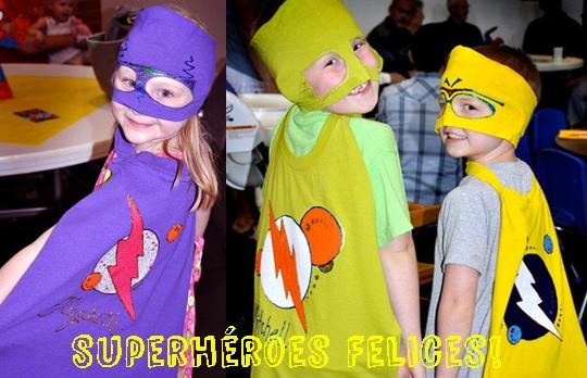 Disfraces de superhéroes hechos con camisetas viejas!