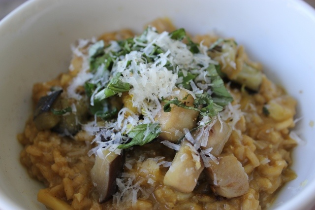 lemon and burnt aubergine risotto - easily the best risotto ...