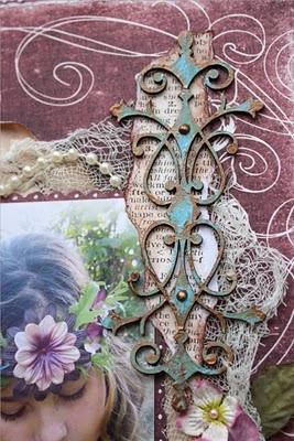 metallic looking flourish technique