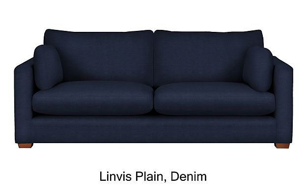 Denim Newark Large Sofa | Living Room Mood Board | Pinterest