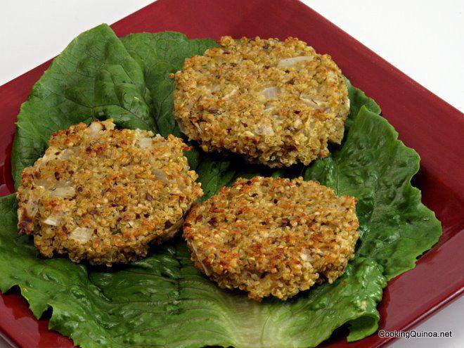 Baked Quinoa Patties Recipe — Dishmaps