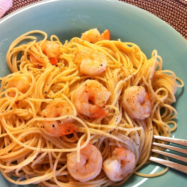 Lemon Pasta with Roasted Shrimp. | My Style | Pinterest