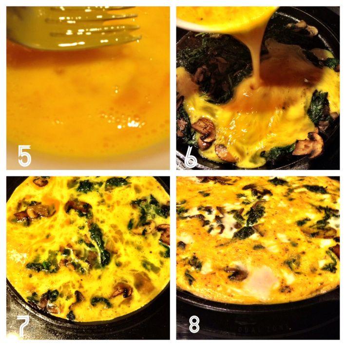 Spinach Mushroom Frittata | yum yum | Pinterest
