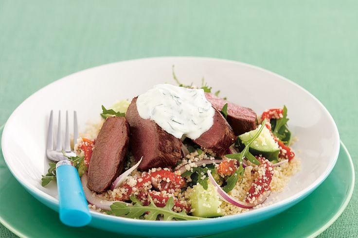 Lamb Salad With Tzatziki Recipe - Taste.com.au
