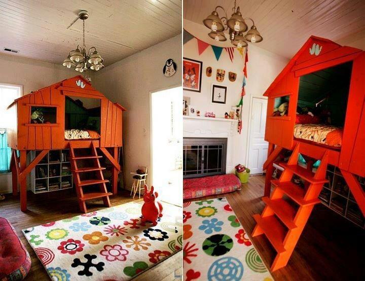 Tree house for kids room fantasy play pinterest for Treehouse kids room