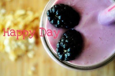 Toasted Coconut and Blackberry Crisp Milkshakes