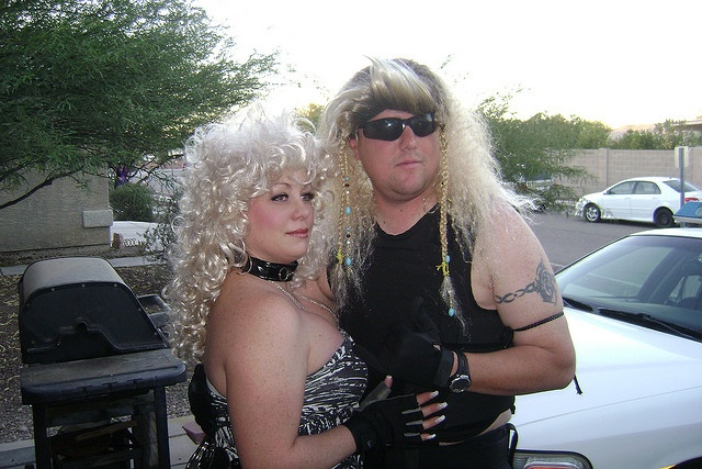 My sister and brother-in-law, in costume of course.