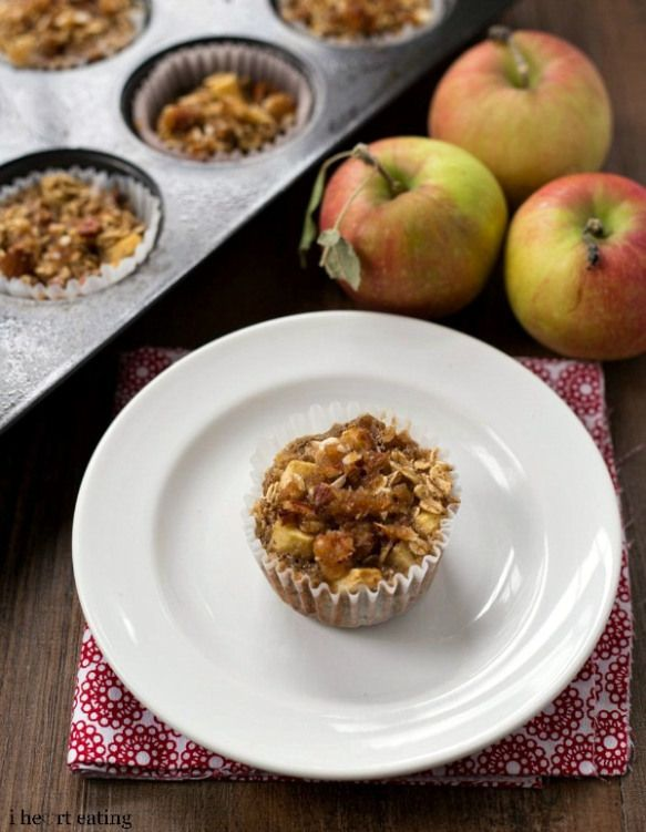 Inidual apple crisp baked oatmeal recipe