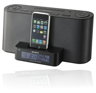 alarm clock docking station speakers pinterest. Black Bedroom Furniture Sets. Home Design Ideas