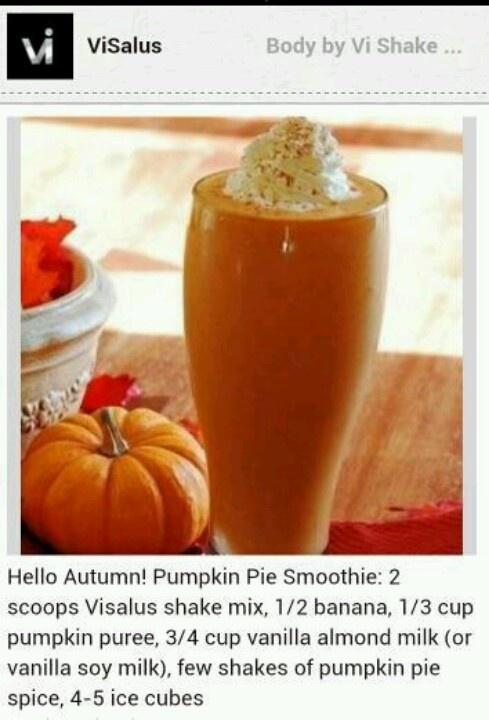 Visalus pumpkin pie shake! | Yummy Foods! | Pinterest