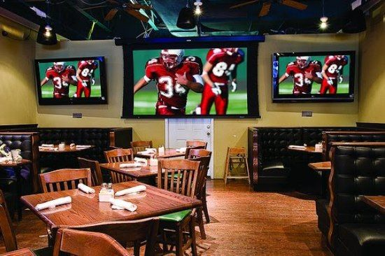 Pin by kuki amoah on new project pinterest for Sports bar interior design ideas