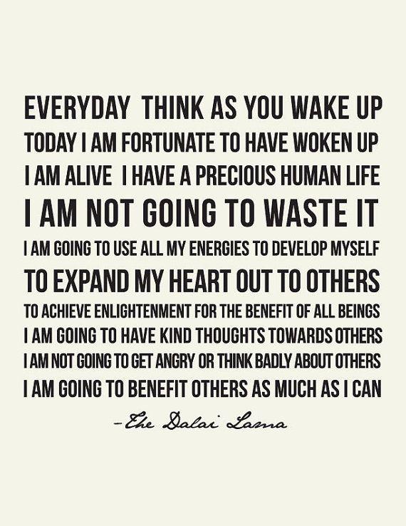 Dalai Lama Quote // Art Print // Inspirational Quote // Unique gift ...