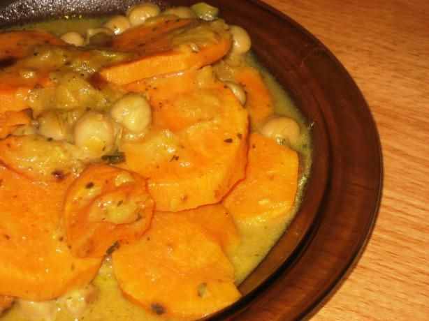 Sweet Potato and Chickpea Curry. Photo by Pneuma