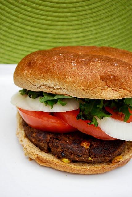 Black Bean-Corn Burger Recipe — Dishmaps