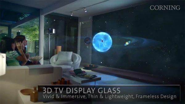 glass future 3d display tv futuristic technology