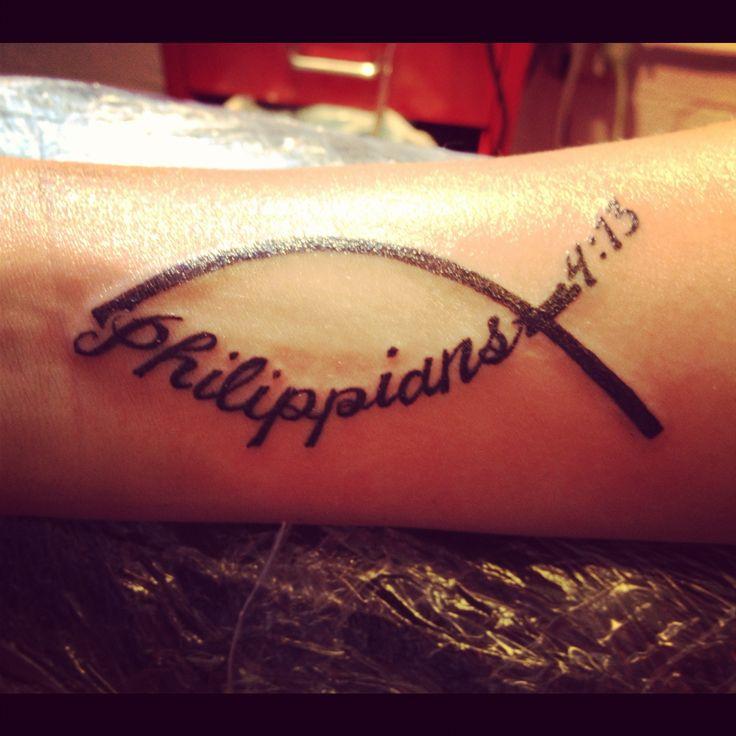 I Can Do All through Christ Who Strengthens Me Tattoo