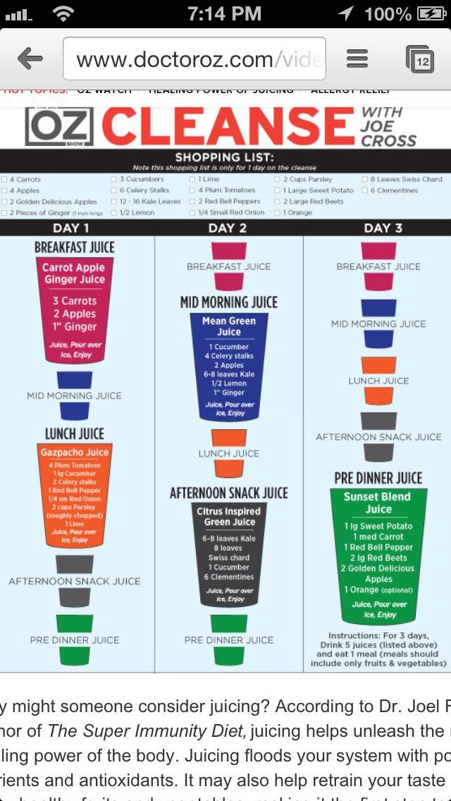 Dr oz. 3 day juice cleanse my current detox cleanse my liver will