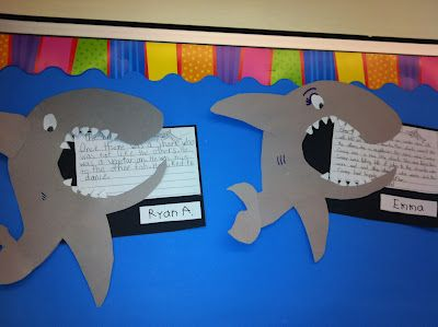 These Sharks are Hungry for Some Stories! as seen on Second Grade Squad      www.secondgradesquad.com