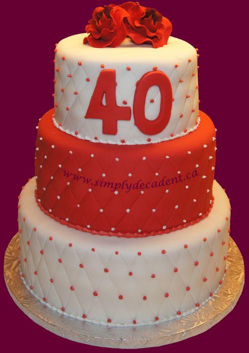 40th wedding anniversary cake anniversary cake ideas work pinte